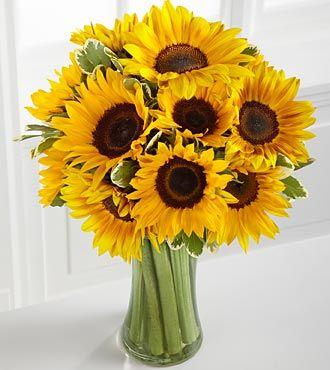 Endless Summer Sunflower Bouquet Sunflower Vase Send Flowers Online Sunflower Bouquets