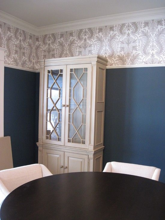 Dining Room Wallpaper With Chair Rail High Chair Rail Design, Pictures, Remodel, Decor And Ideas