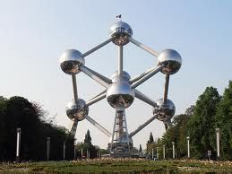 Emmy DE * The Atomium is an iconic building in Brussels originally constructed for Expo '58, the 1958 Brussels World's Fair.