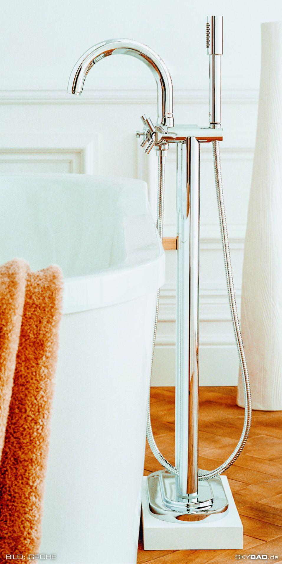 Traumhafte Grohe Badewannen Armatur Im Badezimmer Skybad De In 2020 Badewanne Aufsatzwaschbecken Kleine Badezimmer