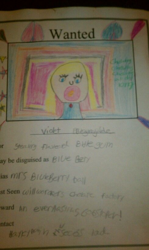 I had my students create WANTED posters for Charlie and the - examples of wanted posters