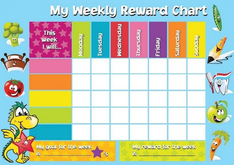 Reward chart template weekly also anghi pinterest rh
