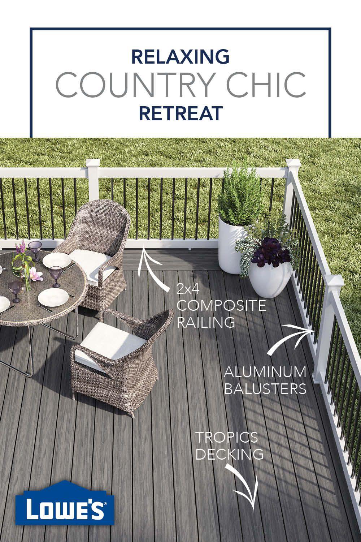 Easy Backyard Updates Start At Lowe S House Deck Deckorators Railings Outdoor