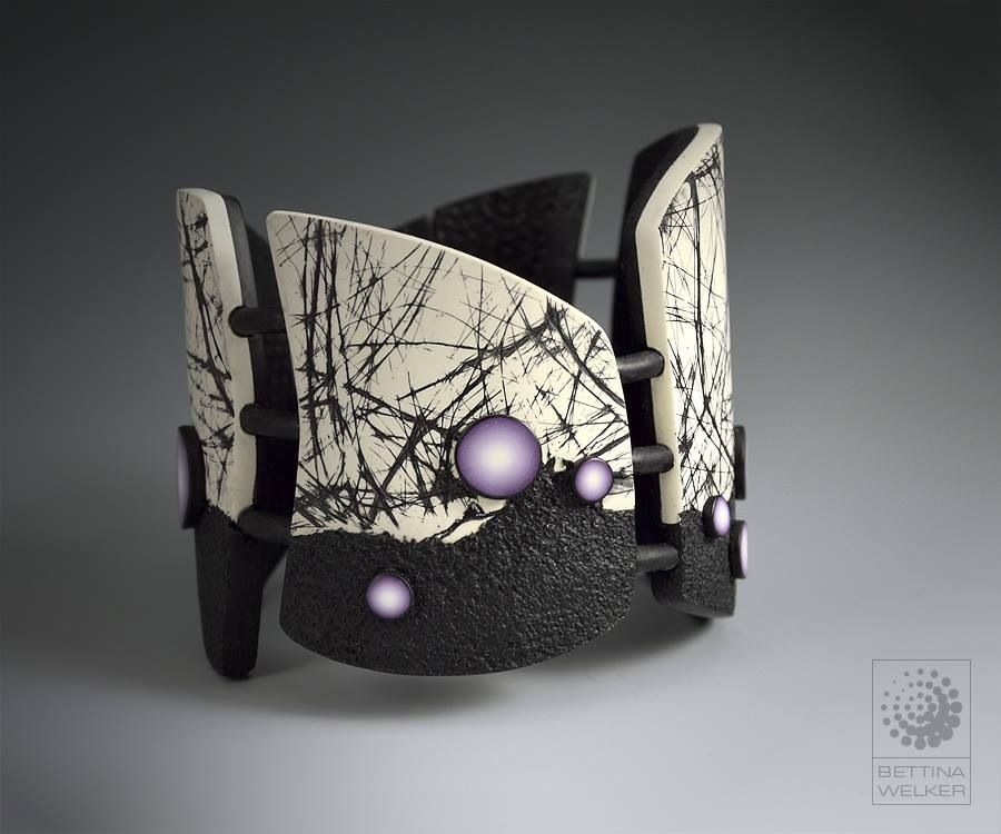Polymer clay bracelet Bettina Welker