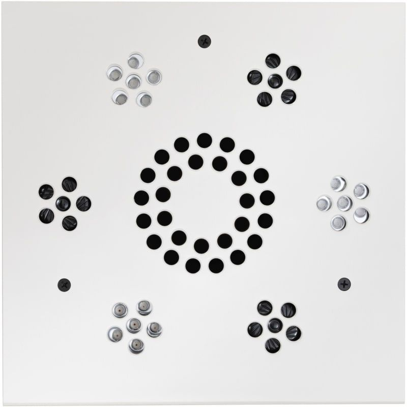 Thermasol Slsm Serenity Square Steam Shower Speaker With Led Lights White Accessory Shower Speaker Speaker In 2020 Steam Showers Shower Speaker Serenity