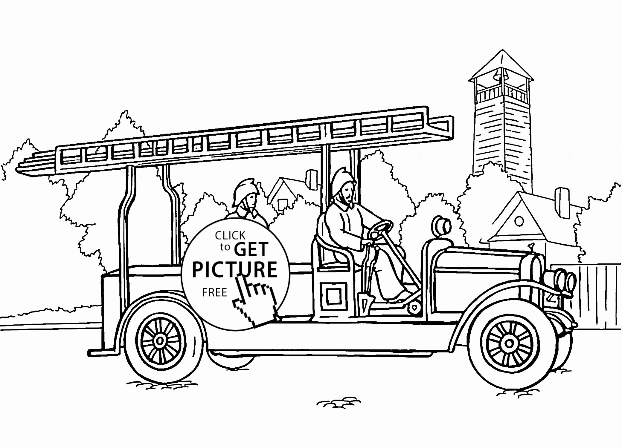 Transport Truck Coloring Pages In 2020 Firetruck Coloring Page