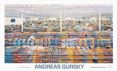 Andreas Gursky 99 Cent Offizielles Ausstellungsplakat Anlsslich Der Retrospektive 2001 In New York Handsigniert