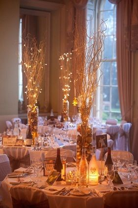 Pretty Centres Long Branches And Fairy Lights Ball Decor