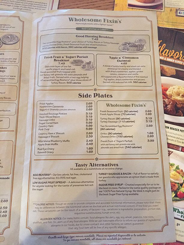 cracker barrel healthy breakfast menu