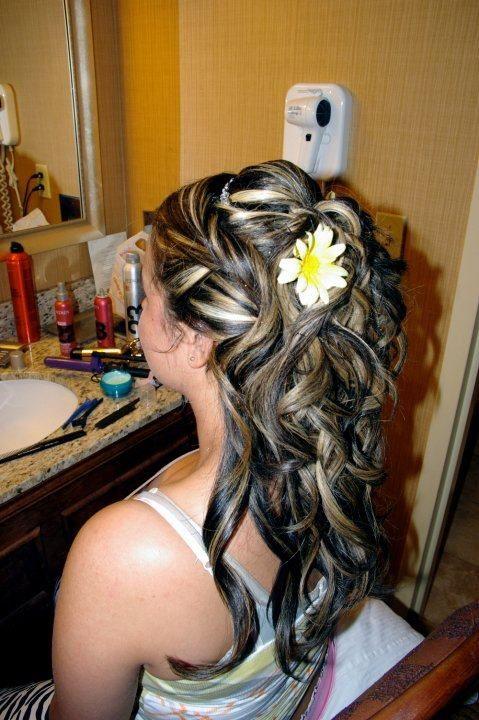 Half Up Bridal Updo. Loose Curls | Hair lengths, Formal ...