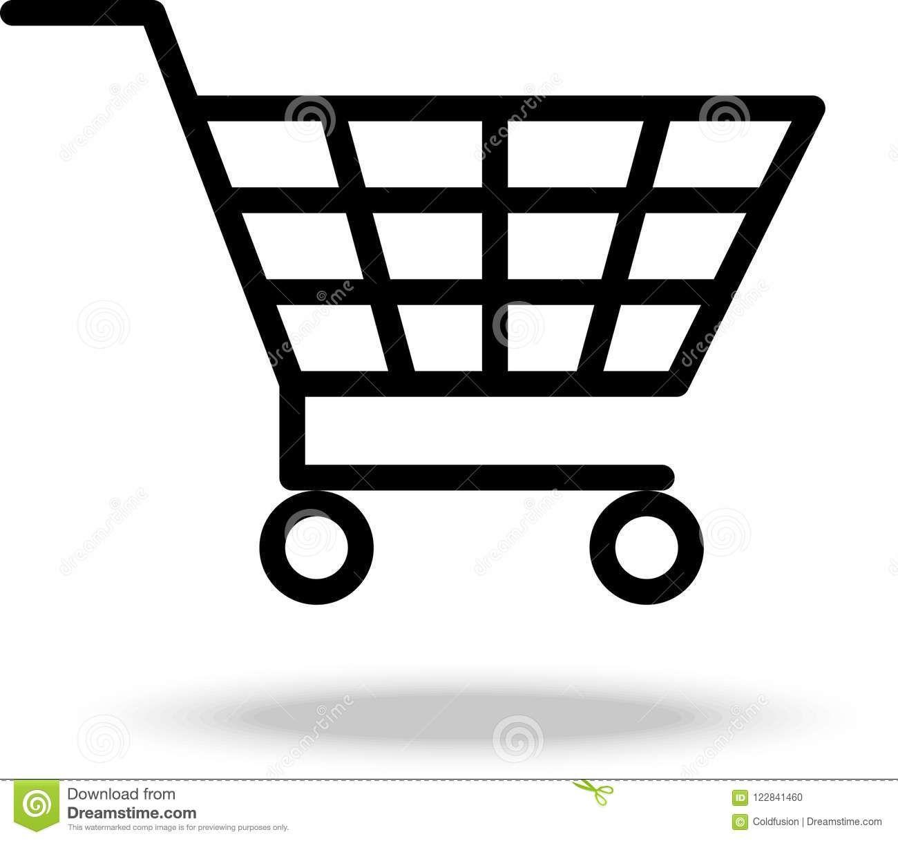 Shopping Cart Trolley Vector Illustration Shopping Cart Trolley Basket Icon Sponsored Cart Trolley Vector Illustration Shopping Cart Illustration