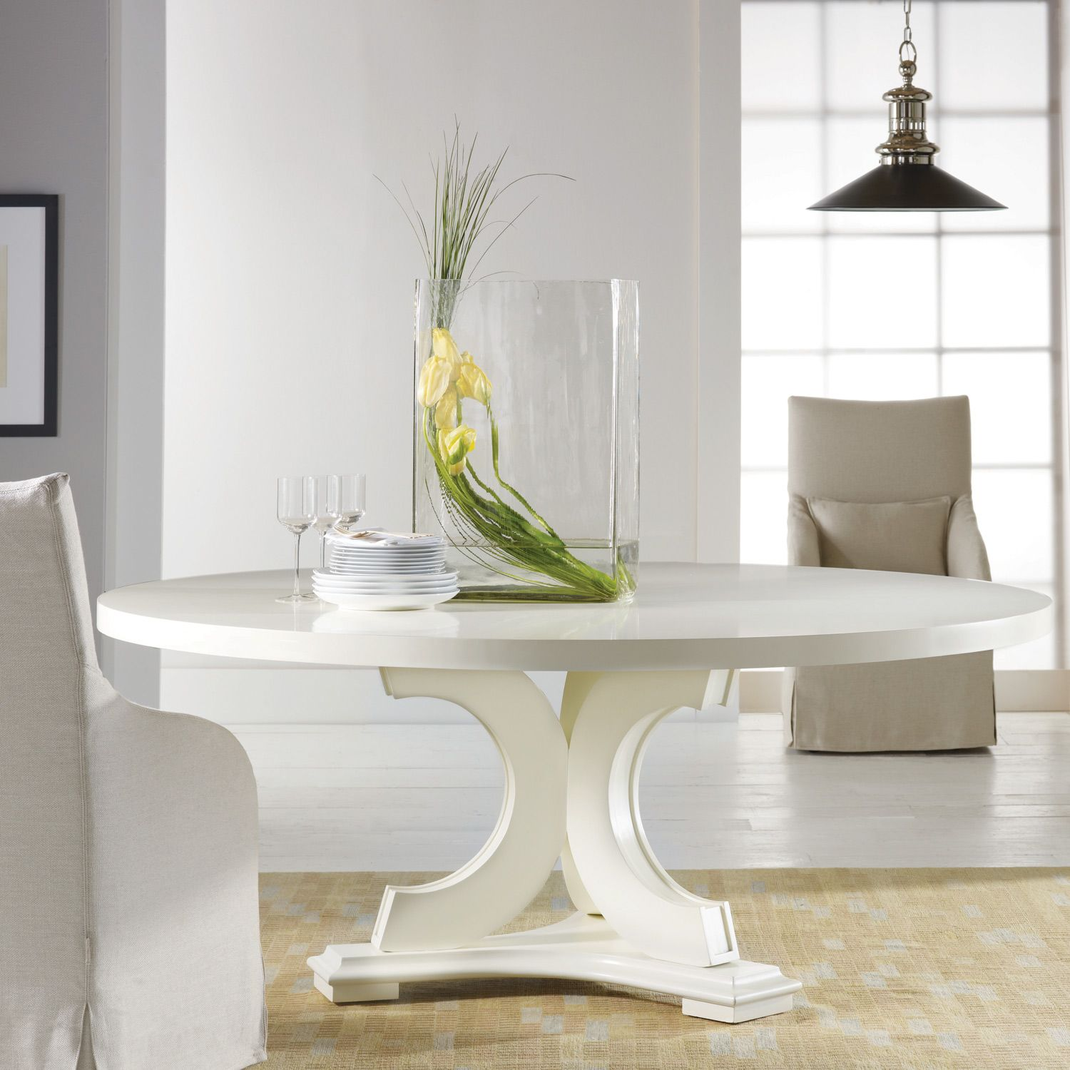 Apartment Size Furniture Round Dining Room Tables White: Malibu Loft Round Dining Table