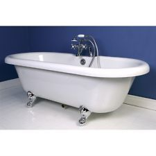 Ds 67 Restoration Acrylic Clawfoot Tub All In One Package Vt7ds673023h1 Chrome Clawfoot Tub Tub Faucet Soaking Bathtubs