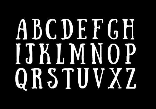 T H G フォント レタリング フリーフォント