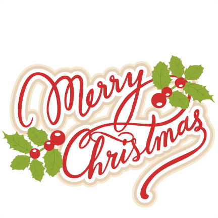 Merry Christmas SVG Scrapbook Title Cut Outs For Cricut Cute Svg Files Free Svgs