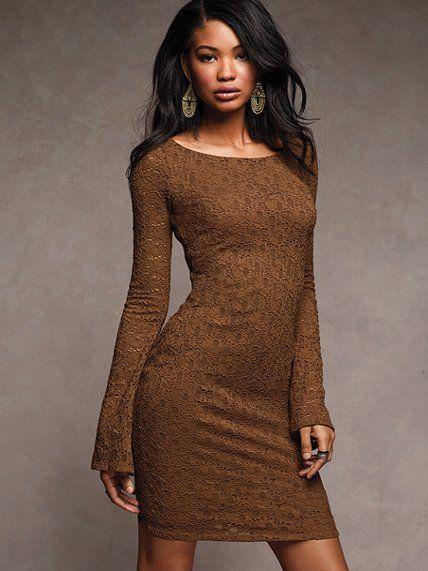Victoria's Secret Bell Sleeve Lace Dress $35