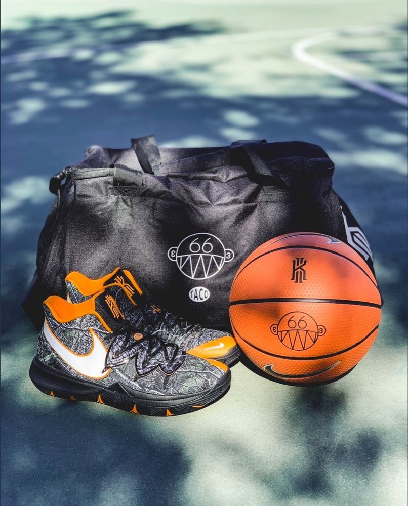 73b0773c468f78 Nike Kyrie 5 Taco PE size 11.5 LIMITED ED. KIT BRAND NEW with gym bag and  ball