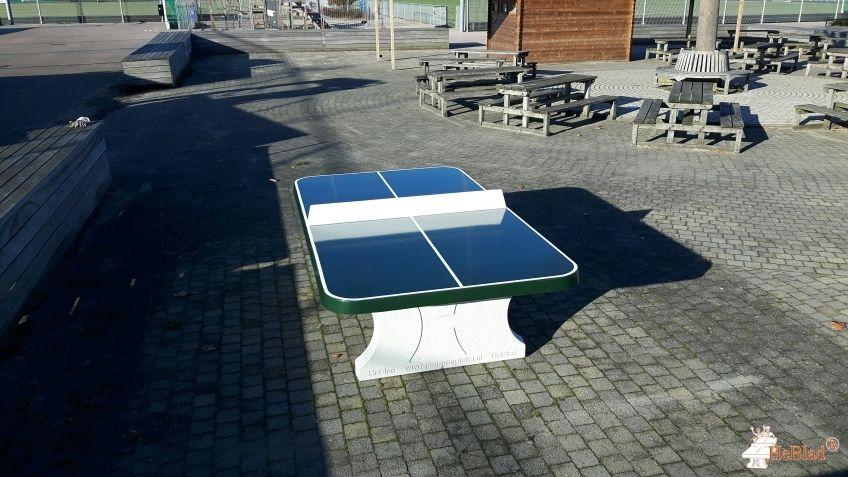 Pingpongtafel Afgerond Groen bij HC Rotterdam in Rotterdam