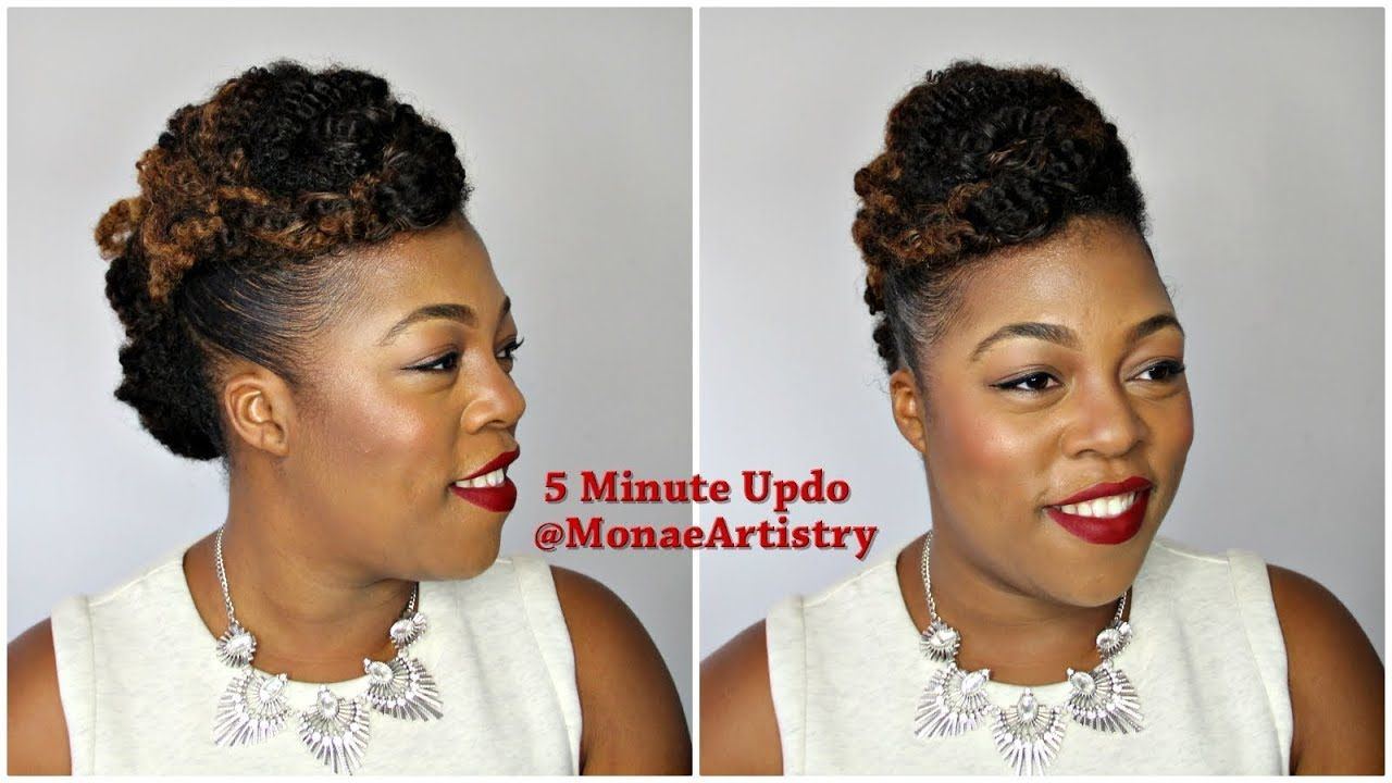 Easy minute updo with kinky haireasy minute updo with kinky hair