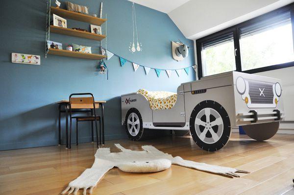 lit voiture | chambre d\'enfants | Pinterest | Lit voiture, Lits et ...