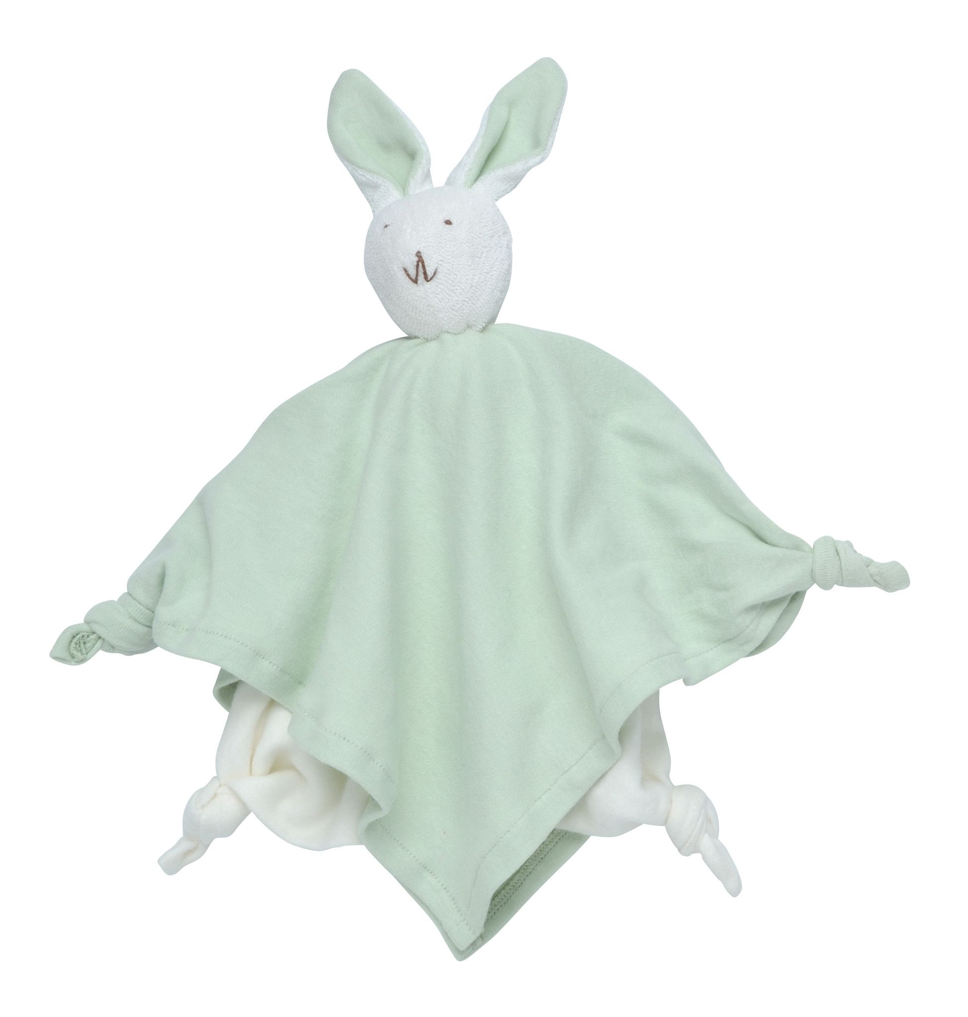 Plush Blanket Friend 100% Organic Cotton - Sage Bunny