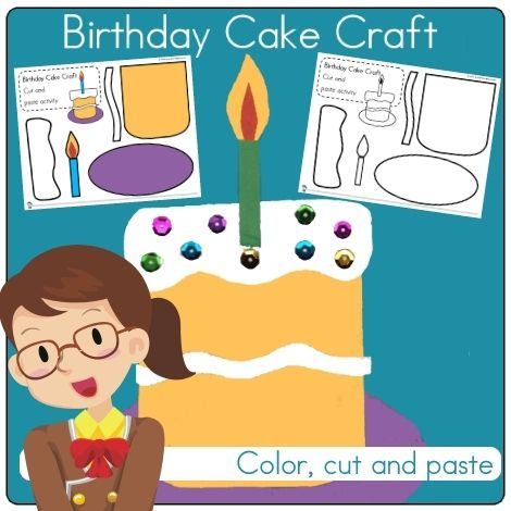 Birthday Cake Craft Idea Great For Prek To First Grade Depending On