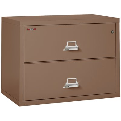 Fireking Fireproof 2 Drawer Lateral File Cabinet Color Tan Lock Manipulation Proof Comb Lock Filing Cabinet
