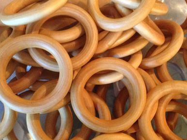 """2-3/4"""" Organic Maple Wooden Teething Rings"""