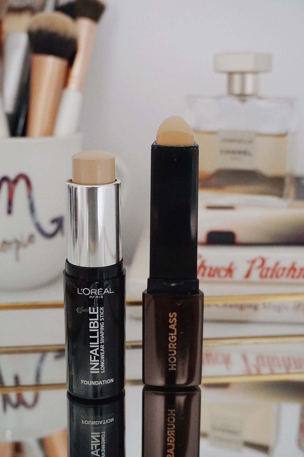 Save or Splurge Hourglass makeup, Stick foundation