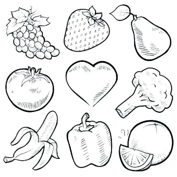 Coloring Pages Fruits And Vegetables Preschool G Fruit Vegetable Fruit  Coloring Pages, Vegetable Coloring Pages, Vegetable Drawing