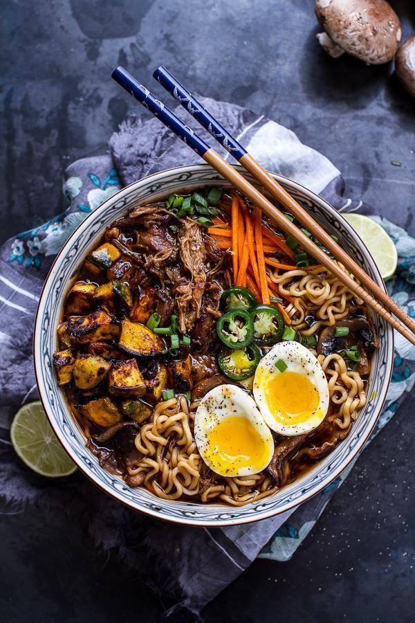 Crockpot Crispy Caramelized Pork Ramen Noodle Soup. This looks so good.