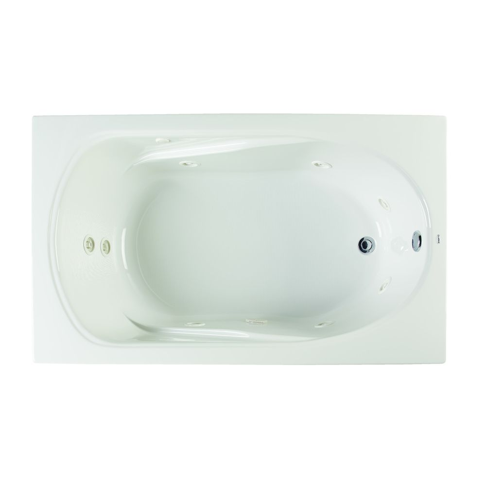 Clarke Products W3660-01CMH Sculptura III Drop-in Whirlpool Tub by ...