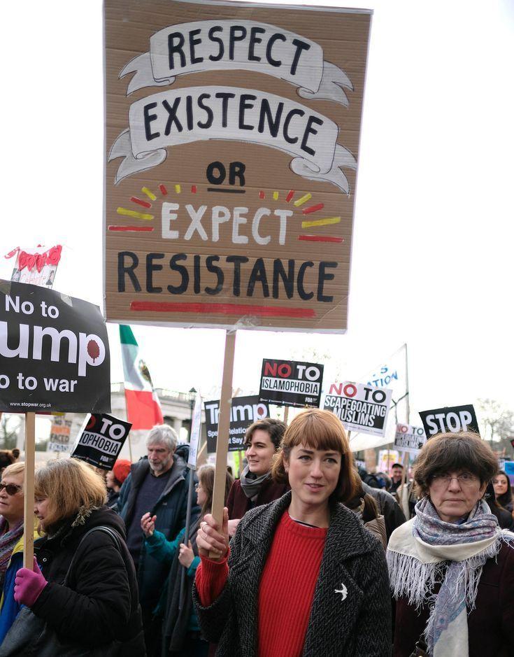 Bestehen respektieren oder Widerstand erwarten – Plakat zum Anti-Trump-Verbot M… – activism
