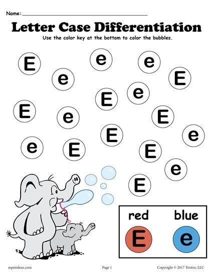 FREE Letter E Do-A-Dot Printables For Letter Case ...