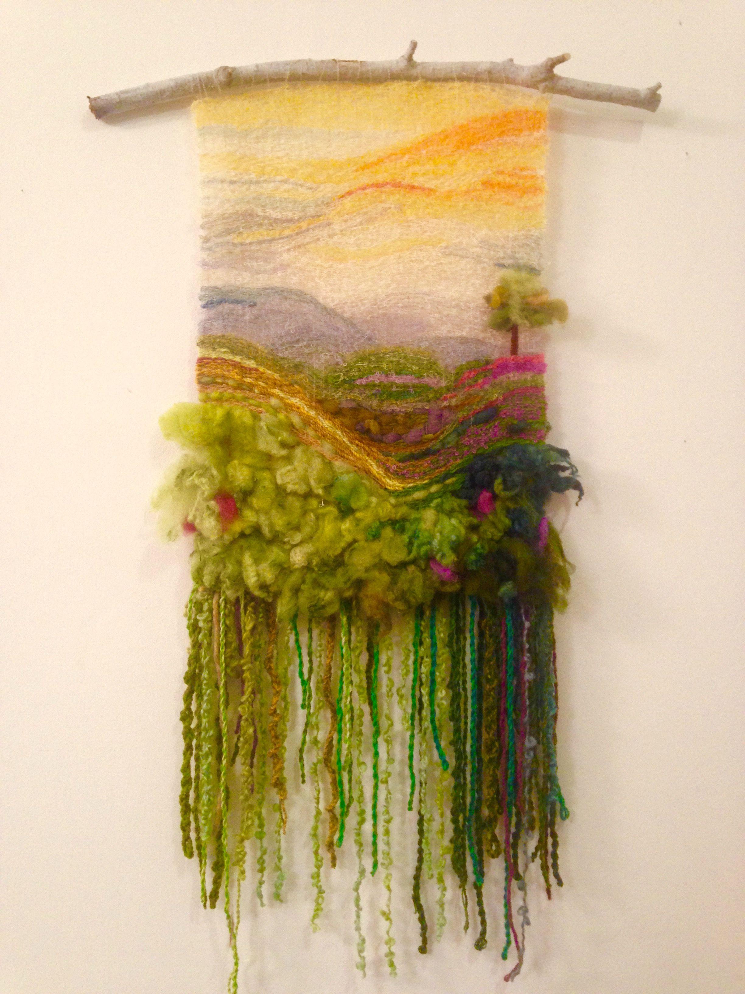My first weave | Fiber art | Pinterest | Fiber art, Tapestry weaving ...