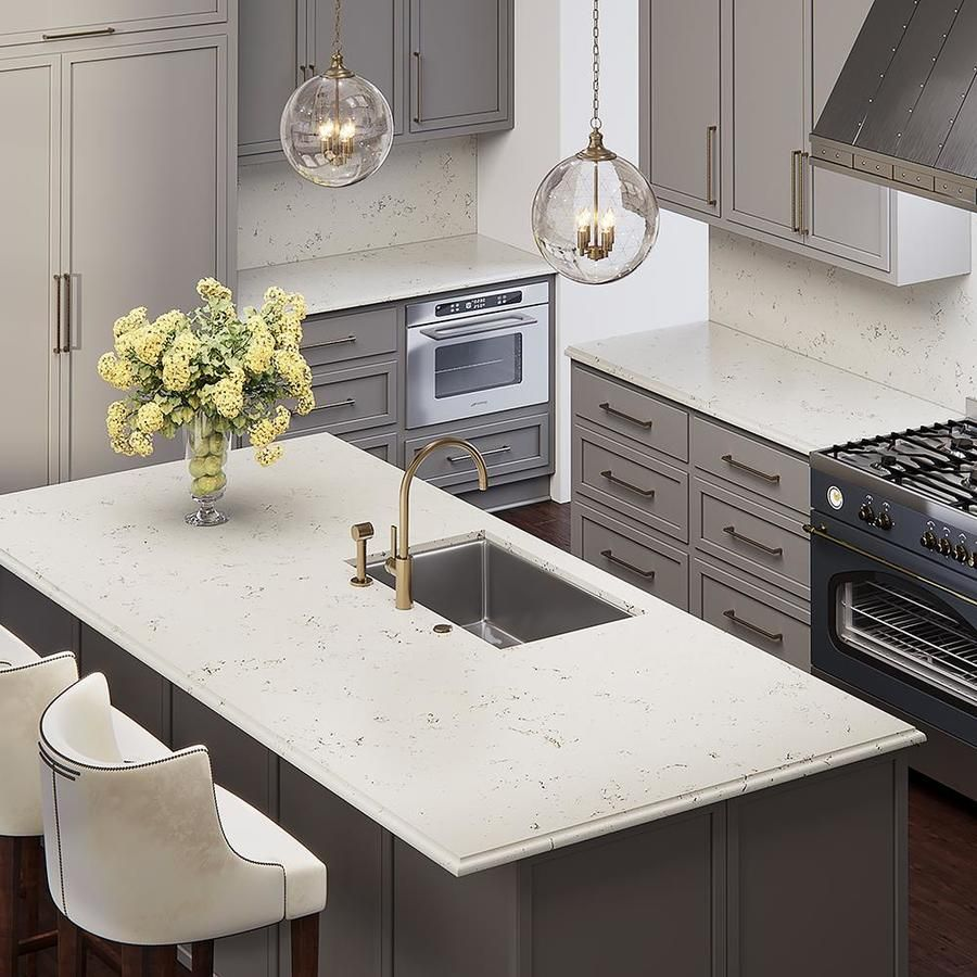 Allen Roth Seraphim Quartz Kitchen Countertop Sample Lowes Com