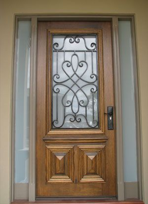 Beautiful Front Doors with Glass | Wrought iron doors and custom iron doors with timber & Beautiful Front Doors with Glass | Wrought iron doors and custom ... Pezcame.Com