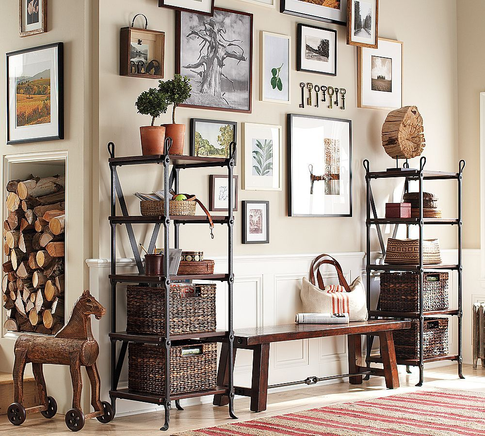 Gallery Wall With Hanging Vintage Keys (Pottery Barn)