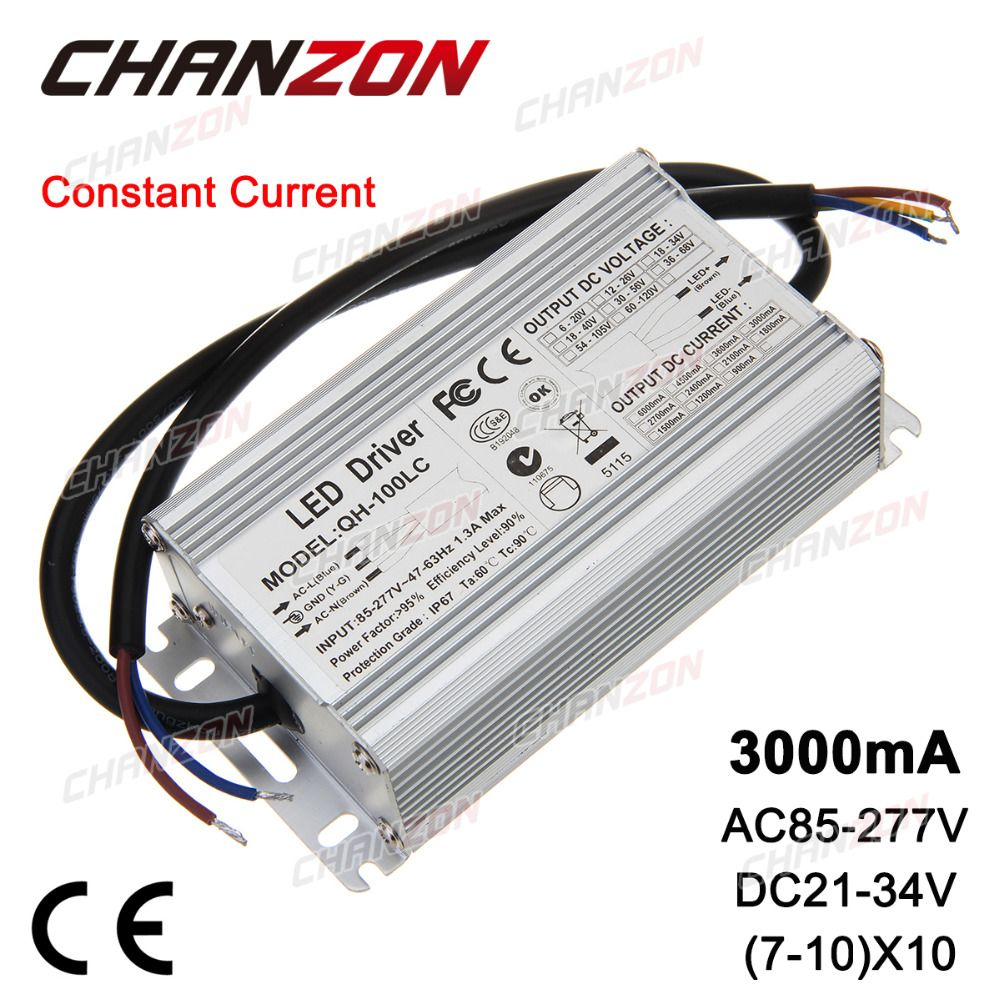 Constant Current Led Driver 3000ma 21 34v 70w 80w 100w Ac85 265v Ip67 Waterproof Lamp Light Power Supply Lighting Transformer Lights Lighting Lighting Lamp Light Led