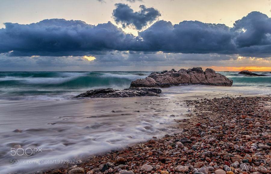 Popular on 500px : Stegna beach by iliasanthitsas