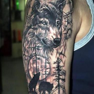 Native American Wolf Tattoo Native American Tattoos Native American Wolf Tattoo Native American Wolf