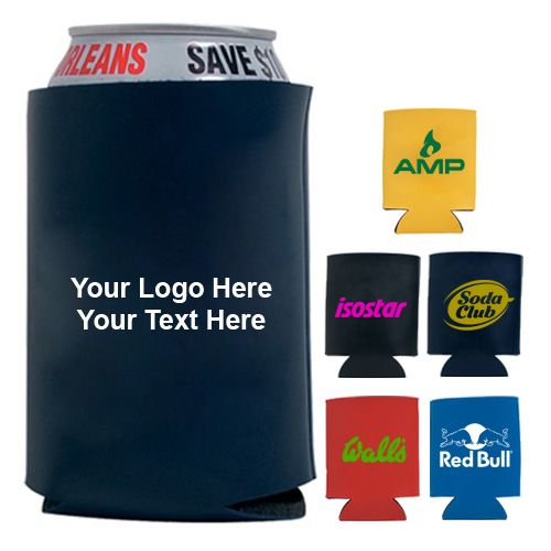 Image result for promotional can koozie your logo images
