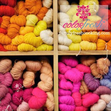 ColorFresh Color Palette #3 {Crafty} on FamilyFreshCooking.com ©Marla Meridith #design #crafts #DIY #graphics #photography #yarn #rainbow
