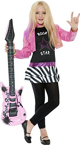 Rock Star Glam Girl Kids Costume by Smiffys *** You can get more details  sc 1 st  Pinterest & Rock Star Glam Girl Kids Costume by Smiffys *** You can get more ...