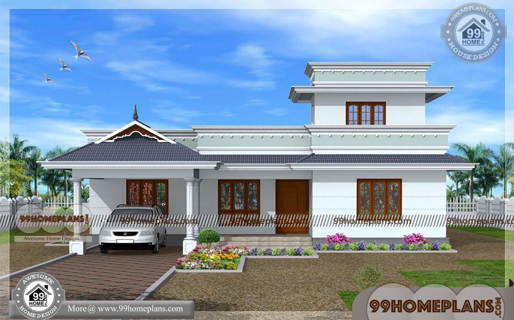 Indian Home Design Single Floor Traditional Homes With Exterior Designs House Designs Exterior Kerala House Design Indian Home Design House front design indian style single floor