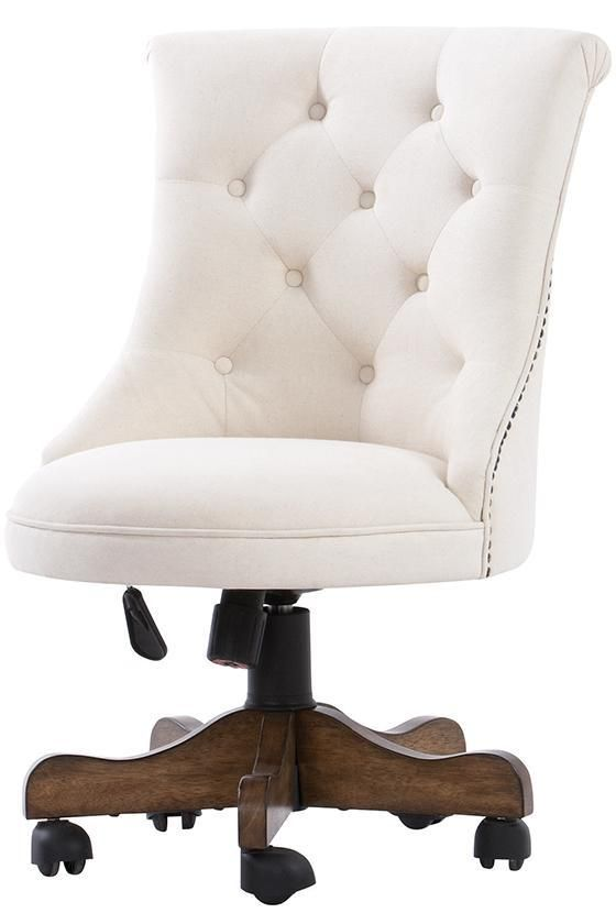Bring A Superior Comfort At Your Desk By Mounting This Rebecca Linen Fabric Modern Office Chair In Weathered Oak From Home Decorators Collection