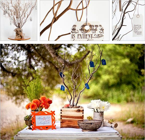 Dutch Wedding Reception Traditions: A Wish Tree As An Alternative Guest Book Coming From A