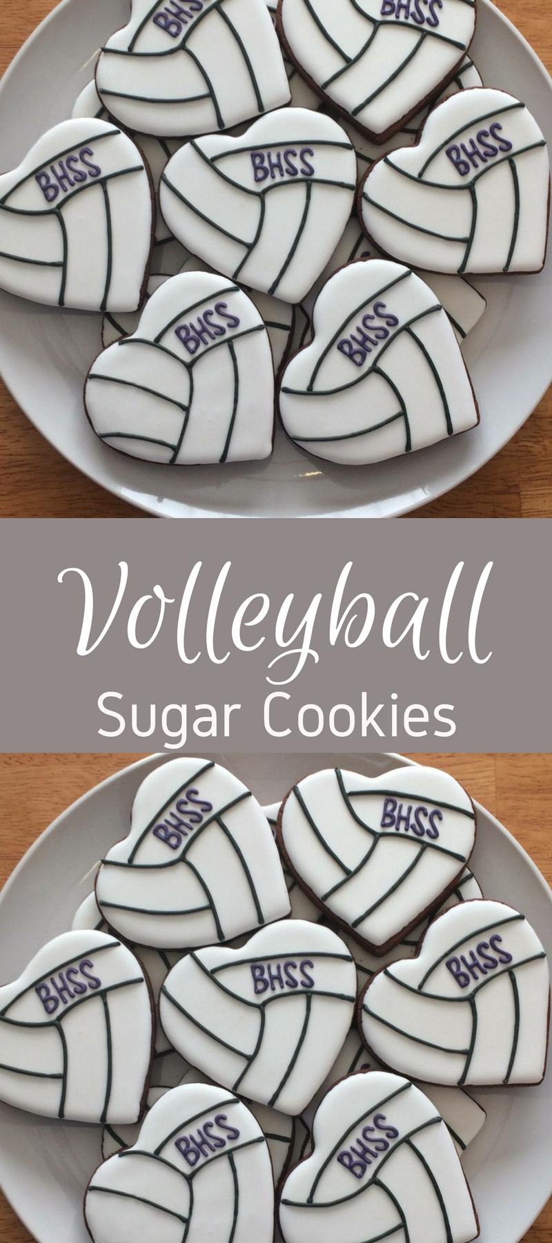 One Dozen Volleyball Heart Sugar Cookies Affiliate Sugar Cookie Royal Icing Heart Sugar Cookie Fancy Cookies
