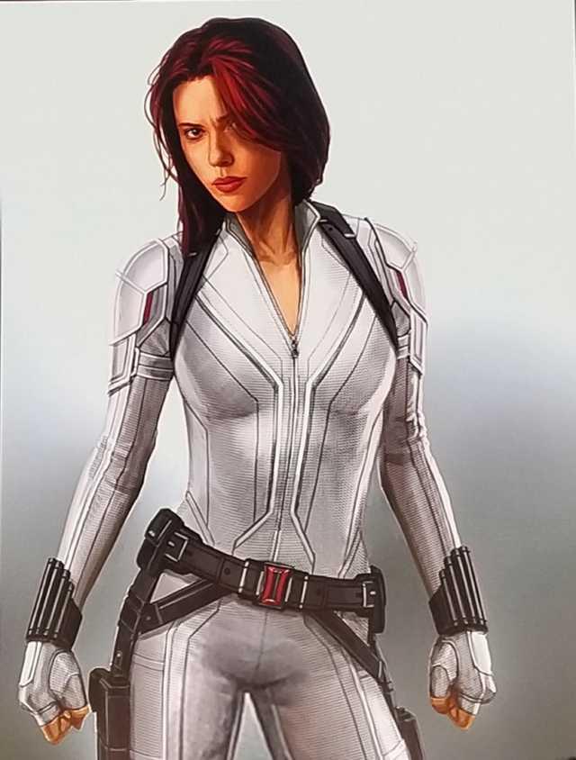 Scarlett Johannson Black Widow White Jacket Scarlett