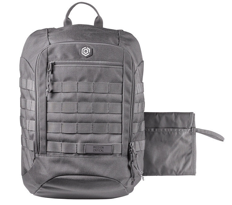 S 01 Daypack Zip Grey Mission Critical Carrier Daypack Molle